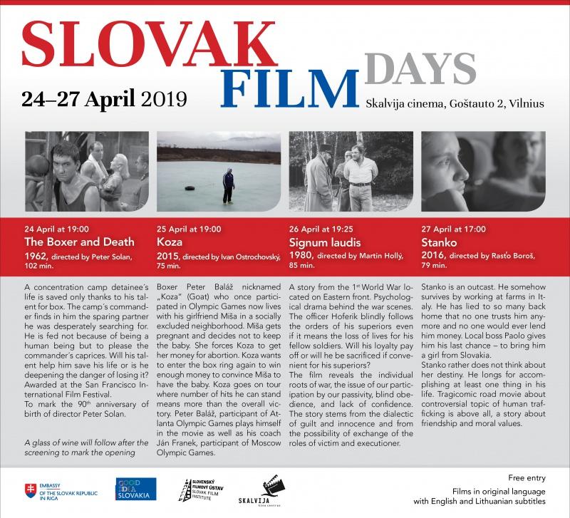 Slovak film days in Vilnius