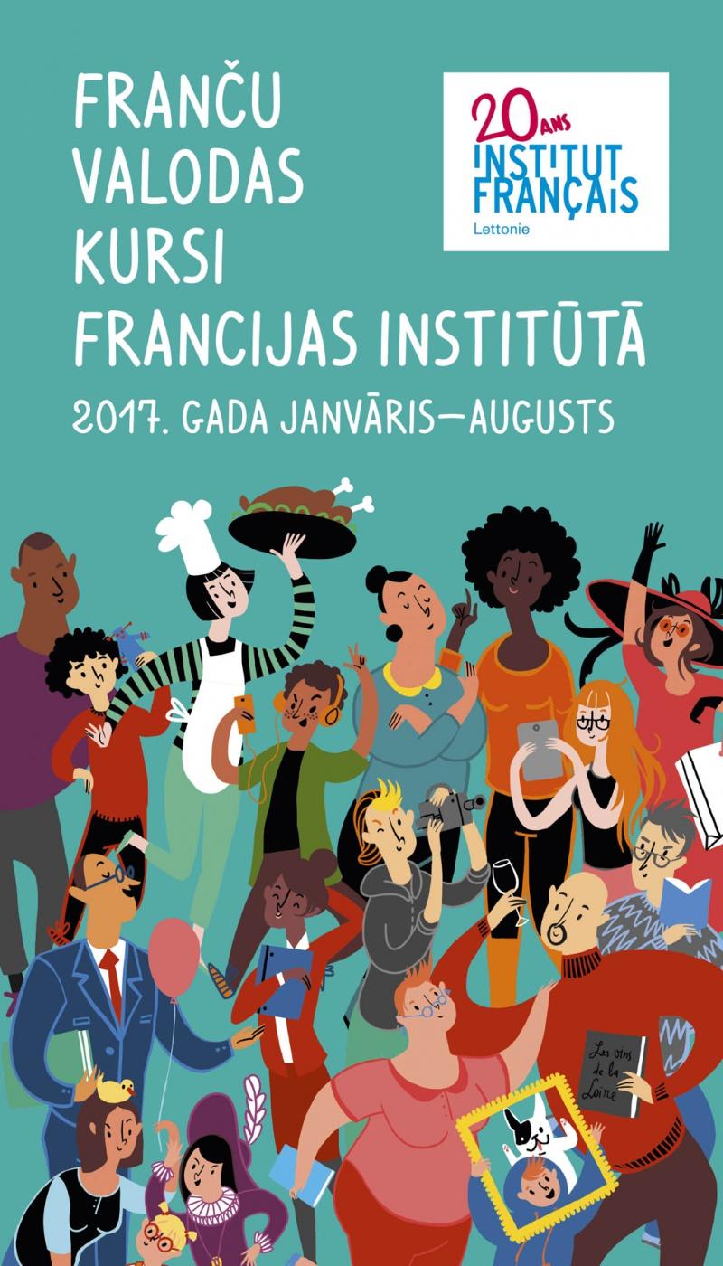 Franču valodas <br>kursu brošūra